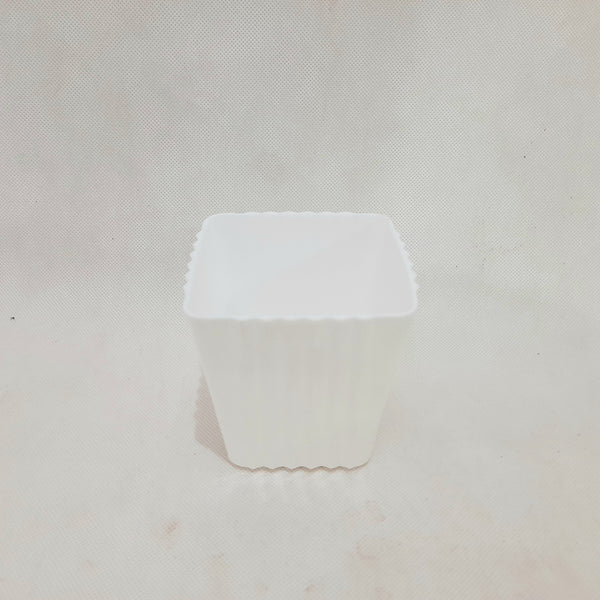 Hard Pot, Corrugated Square, White, 3 inches (per piece) Homegrown: Fresh Food, Groceries, Plants and More!