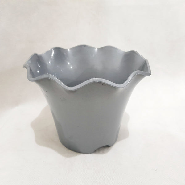 Hard Pot, Silver, 5x5.5 Inches (per piece) Homegrown: Fresh Food, Groceries, Plants and More!