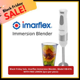Black Friday Sale, Imarflex Immersion Blender, Model ISB-610, WITH FREE LEMON 2pcs (per piece) Homegrown: Fresh Food, Groceries, Plants and More!
