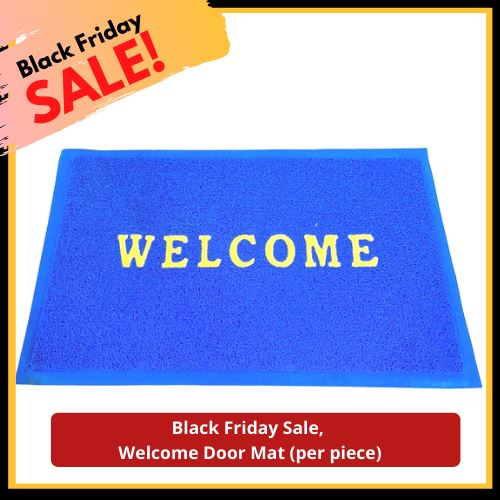 Black Friday Sale, Welcome Door Mat (per piece) Homegrown: Fresh Food, Groceries, Plants and More!