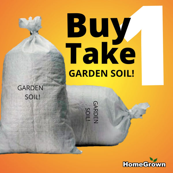 Buy 1 Take 1 Garden Soil! (2 x 4 kilo Bags, Total 8 kilos) Homegrown: Fresh Food, Groceries, Plants and More!