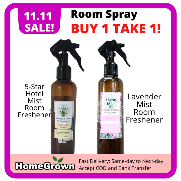 11.11 SALE! Buy 1 Take 1 Room Spray, Hotel and Lavender (Total 2 Bottles) Homegrown: Fresh Food, Groceries, Plants and More!