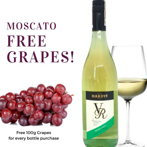 Moscato Wine, 2019, Hardy's, Australia, Free 100g Grapes! (750ml) Homegrown: Fresh Food, Groceries, Plants and More!