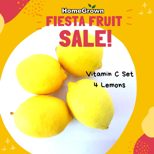Fiesta Fruit Sale! Vitamin C pack (Lemon 4pcs) Homegrown: Fresh Food, Groceries, Plants and More!