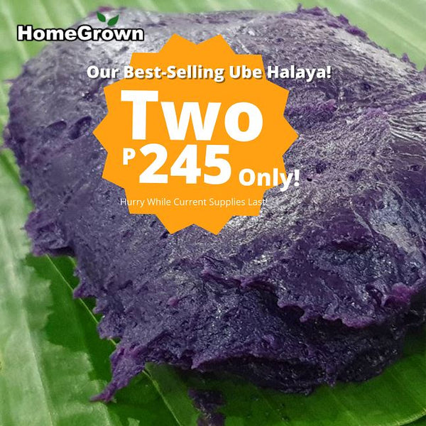 Promo! Buy 2 Ube Halaya Only P245! (2 Packs, Total ~600g) Homegrown: Fresh Food, Groceries, Plants and More!