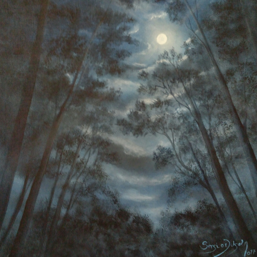 Full Moon, Sergio Dugan - A Life With Art