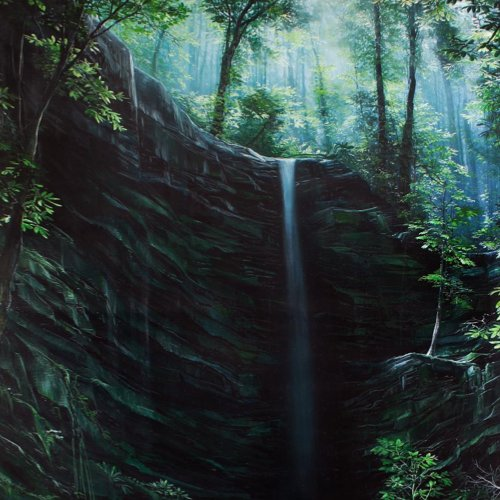 Small Waterfall, Marco Valencia - A Life With Art