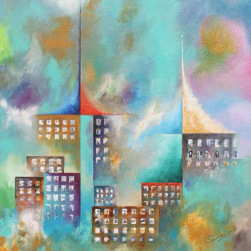 Urban Landscape, Jose Quiroz Yañez - A Life With Art