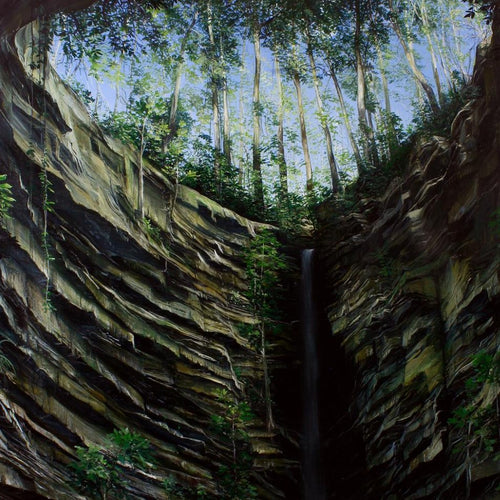 Waterfall In The Forest II, Marco Valencia - A Life With Art