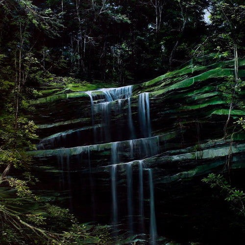 Waterfall In The Forest, Marco Valencia - A Life With Art