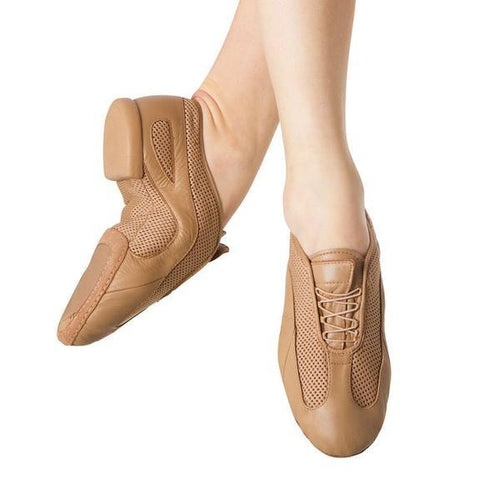 Bloch Stripstream Jazz Shoe Adult - Tan