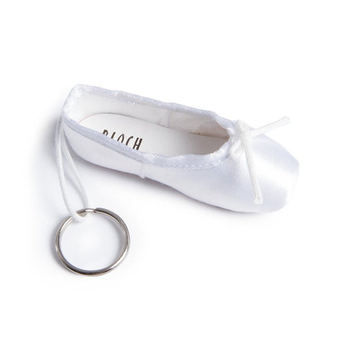Bloch Pointe Shoe Keyring - White