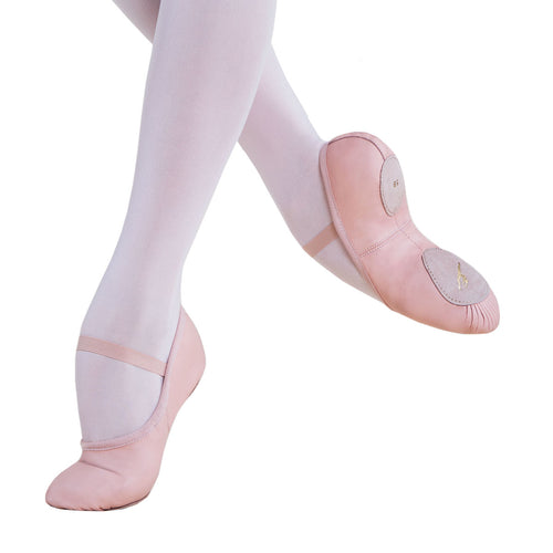 Energetiks Split Sole Leather Ballet Shoes Adult - Ballet Pink