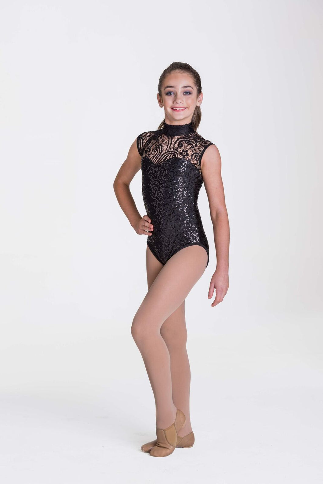 Studio 7 Deco Lace Leotard Adult - Black