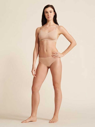 Capezio Seamless Low Rise Thong Adult - Nude
