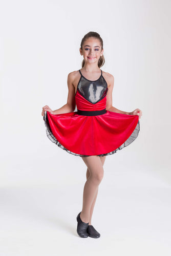 Studio 7 Rock and Roll Dress Child - Red