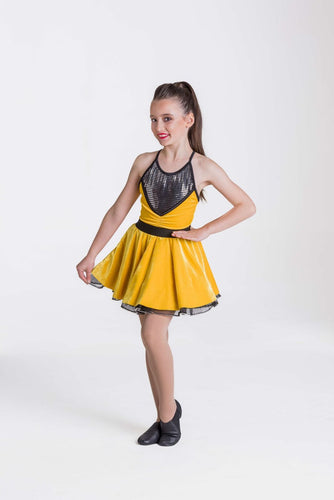 Studio 7 Rock and Roll Dress Adult - Yellow