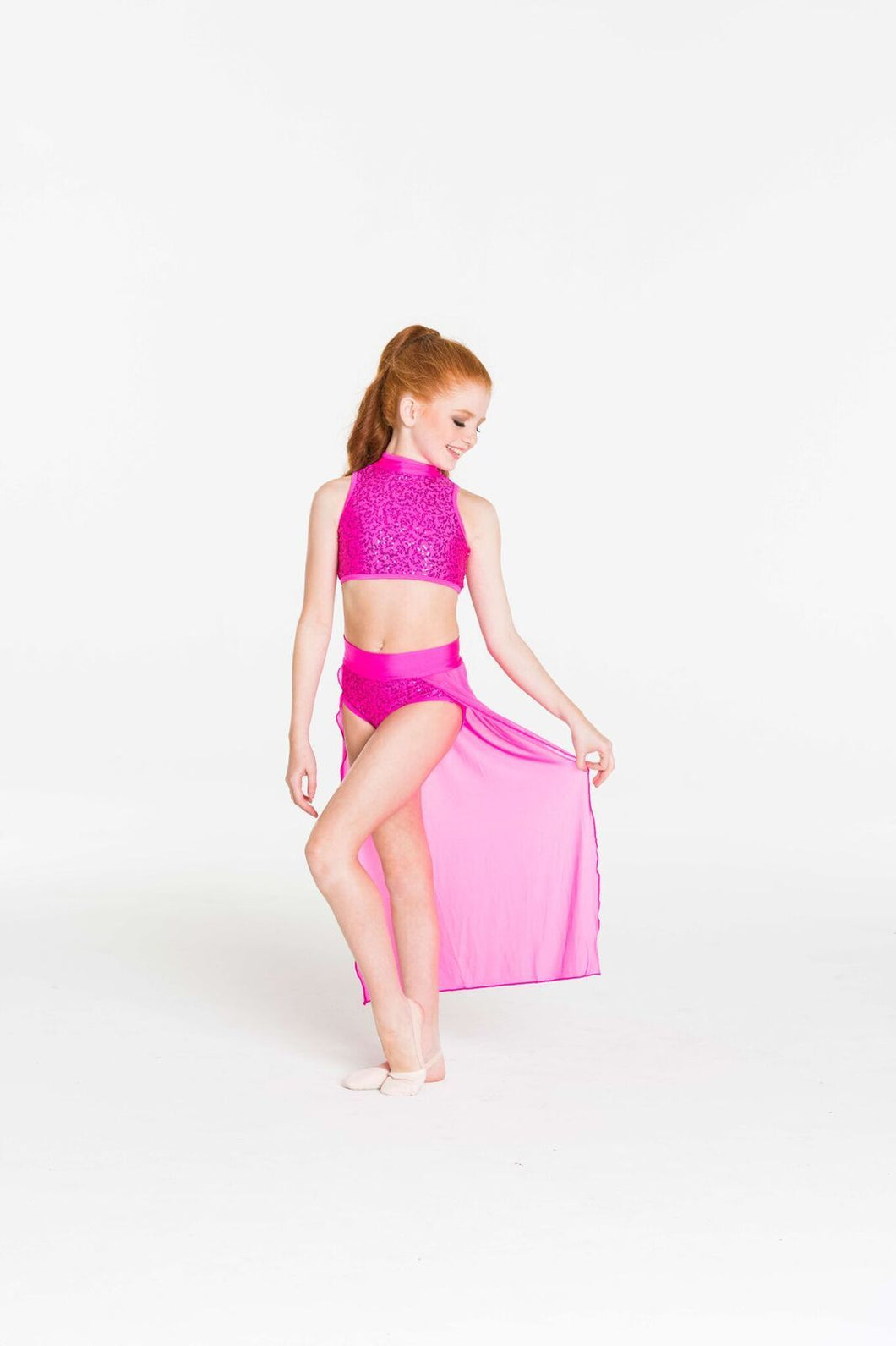 Studio 7 Synchronise Contemporary Skirt Adult - Hot Pink