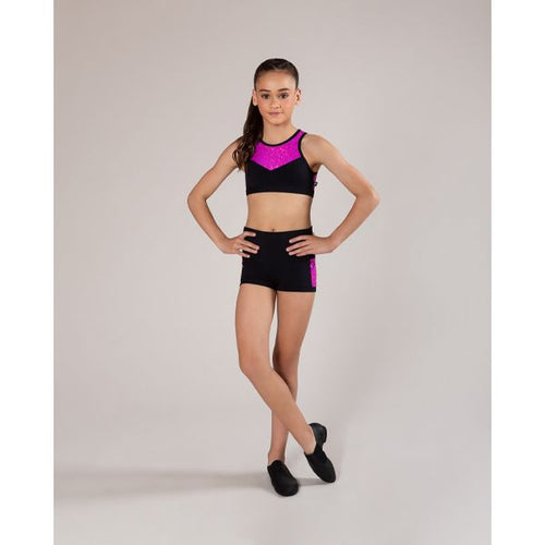 Energetiks Evelyn Crop Top Child - Hot Pink