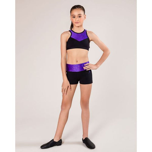 Energetiks Evelyn Crop Top Child - Party Purple
