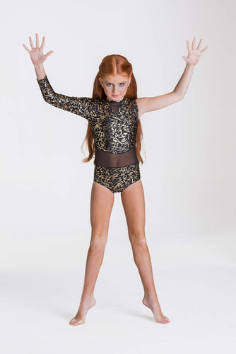 Studio 7 Wild Things Leotard Child - Metallic Gold