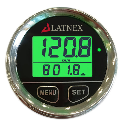 Chrome Digital GPS Speedometer with 3 Backlight Colors - Green/Red/Blue (Black)
