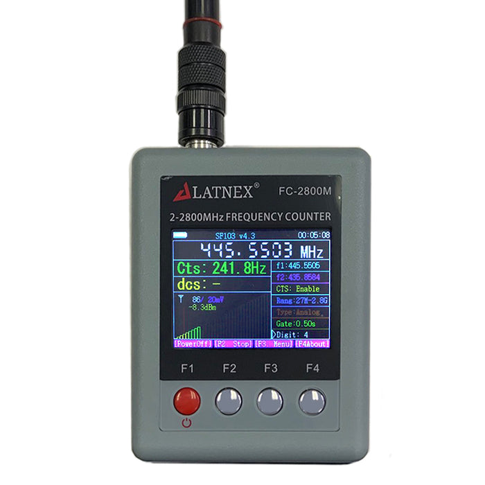 FC-2800M Portable Frequency Counter 2MHz - 2.8GHz Frequency Counters - LATNEX