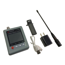 FC-2800M Portable Frequency Counter with Antenna, Plug Adapter, USB Cable, & Clip