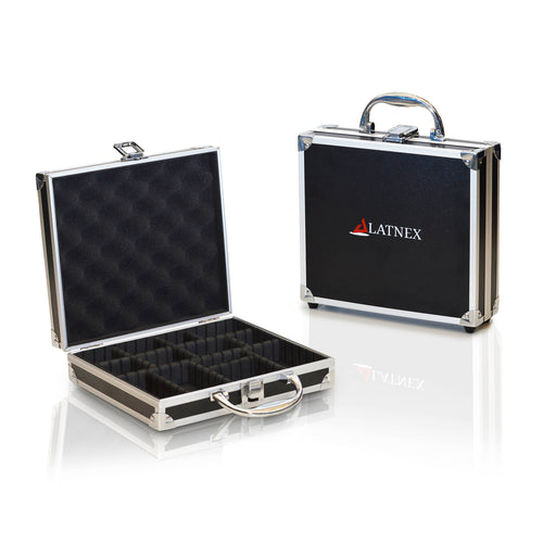 Aluminium Carrying Case with Organizing Dividers 1D: Safely Store Electronics During Travel Cases - LATNEX
