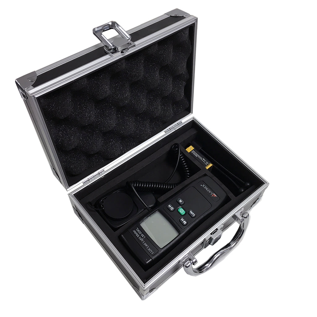 LATNEX LUX Led Light Meter LM-50KL with Aluminium Case & Tripod Stand