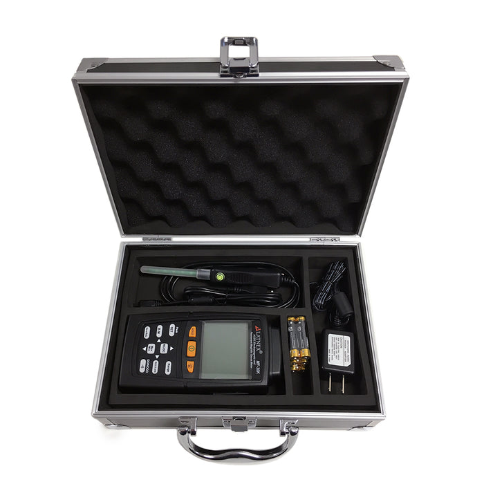MF-30K AC/DC Electromagnetic Permanent Magnets Gauss Meter with Aluminium Case DC Gaussmeters - LATNEX