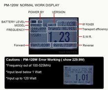 PM-120W (SO239) V.S.W.R. & Power Meter