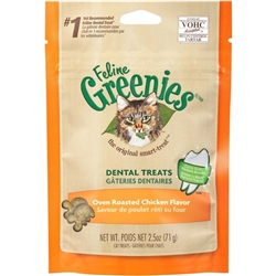FELINE GREENIES® Dental Treat Oven Roasted Chicken for Cats - 2.5oz