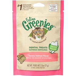FELINE GREENIES® Dental Treat Savory Salmon for Cats  - 2.5oz