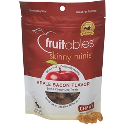 Fruitables Apple Bacon Skinny Minis Soft and Chewy Dog Treats - 5 oz