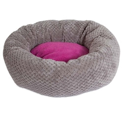 JACKSON GALAXY DONUT CAT BED, GRAY/PINK, 18