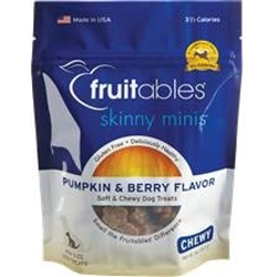 Fruitables Pumpkin & Berry Skinny Minis Soft and Chewy Dog Treats - 5 oz