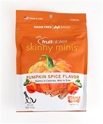 Fruitables Pumpkin Spice Skinny Minis Soft and Chewy Dog Treats - 5oz Pouch