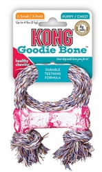 Puppy Kong® Goodie Bone with Rope - X-Small