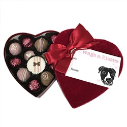 Doggy Velvet Heart Box