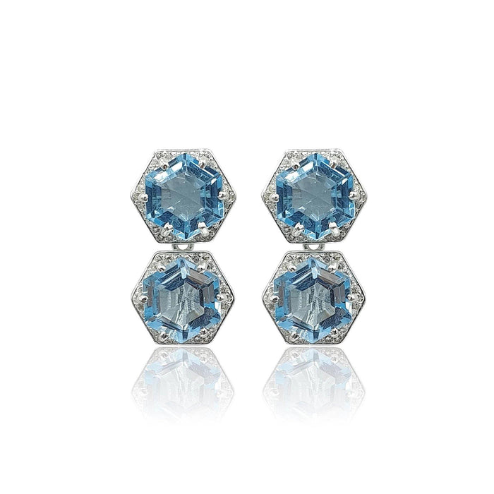 Sky Blue Topaz Style Your Own Earrings