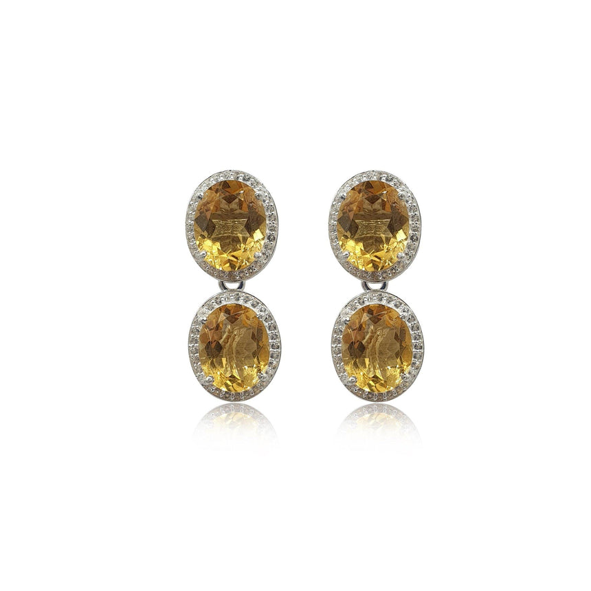 Style Your Own: Oval Citrine Earrings in Sterling Silver