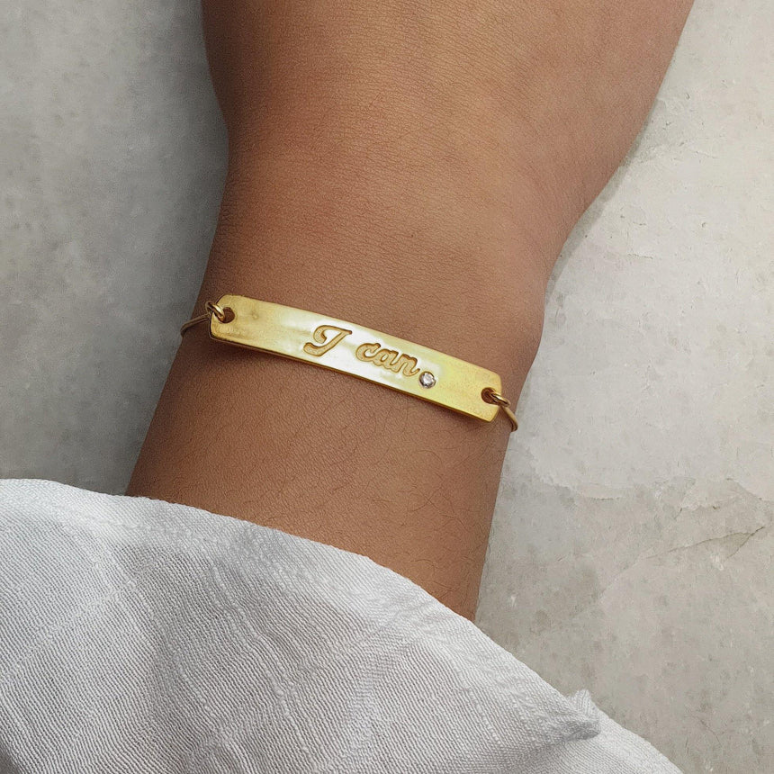 Nadine: Amethyst and 18k Rose Gold Vermeil on Sterling Silver Bracelet - Eliza Bautista