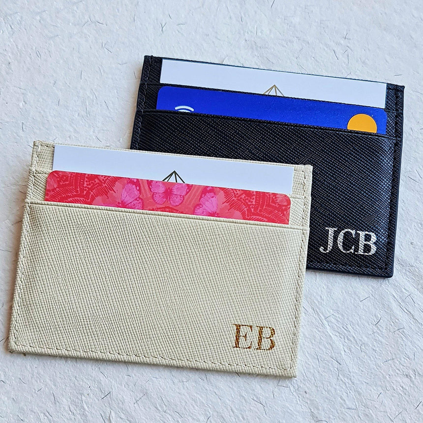 Saffiano Leather Card Holder - Eliza Bautista