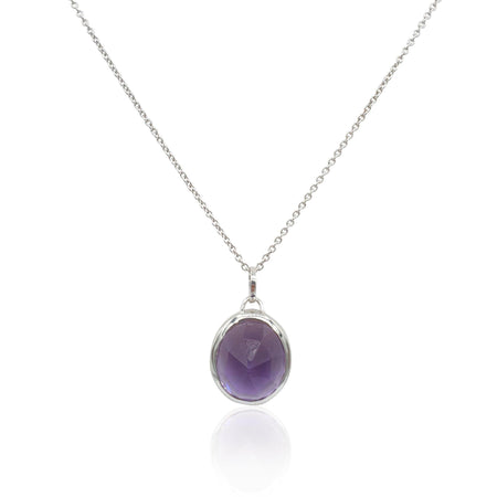 Aissa: Amethyst Necklace in Sterling Silver - Eliza Bautista