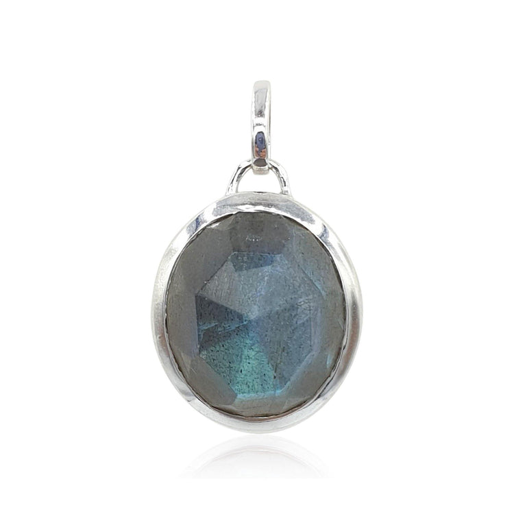 Aissa: Labradorite Necklace in Sterling Silver - Eliza Bautista