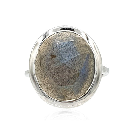 Aissa: Labradorite and Sterling Silver Ring - Eliza Bautista