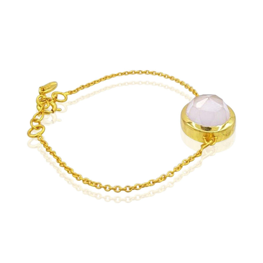 Aissa: Amethyst Bracelet in 18k Rose Gold Vermeil on Sterling Silver - Eliza Bautista
