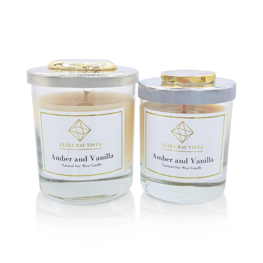 Amber and Vanilla Soy Wax Candle - Eliza Bautista