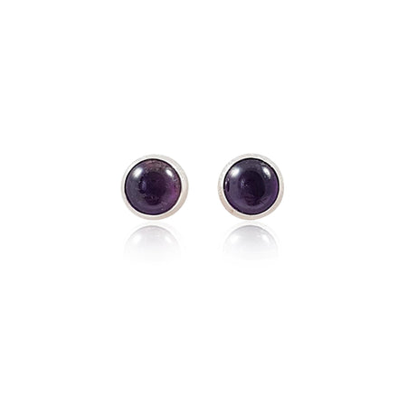 Amethyst Stud Earrings - Eliza Bautista